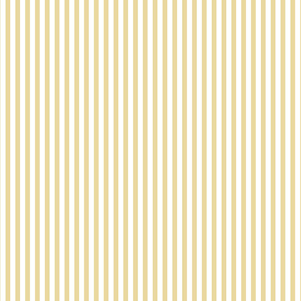 yellow and white 3mm stripe wallcovering