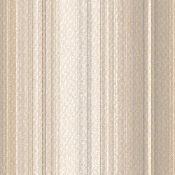 Beige and grey stripe wallcovering