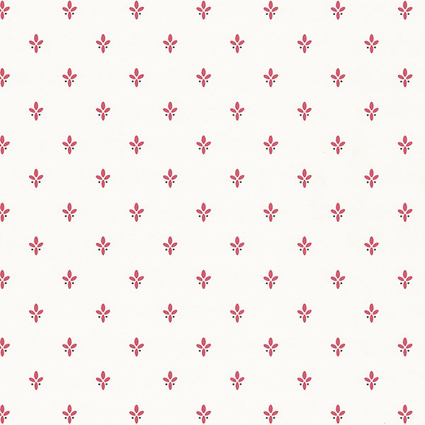 Red white ditty wallpaper