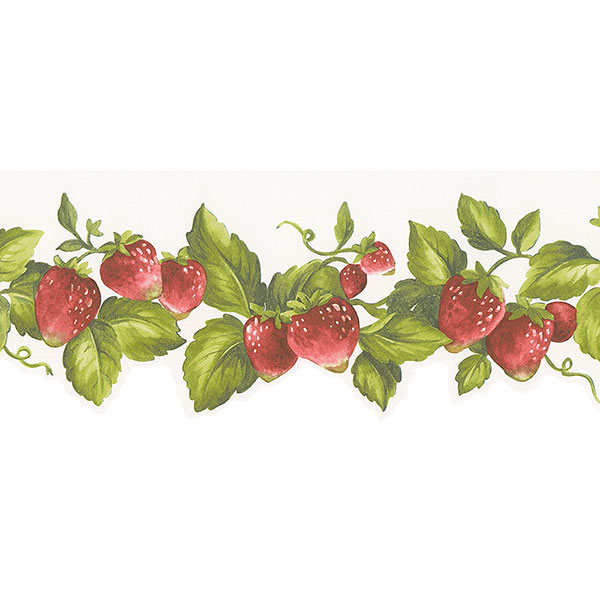Strawberry die cut border