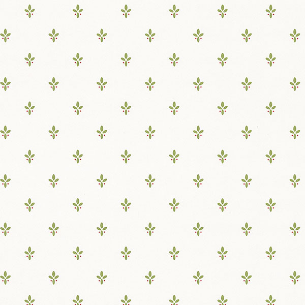 Green white ditty wallpaper