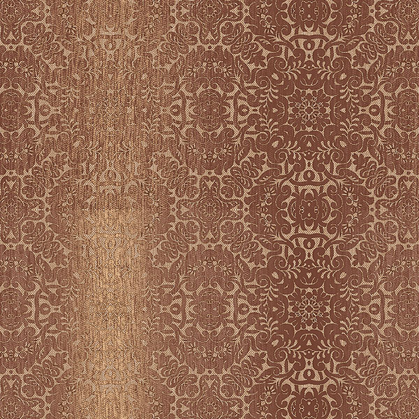 Rust ochre and metallic gold tribal texture wallcovering