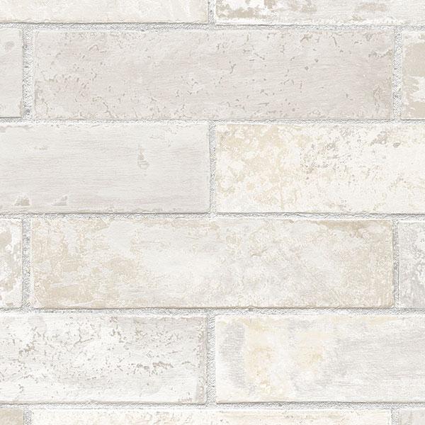 lt grey brick wallcovering