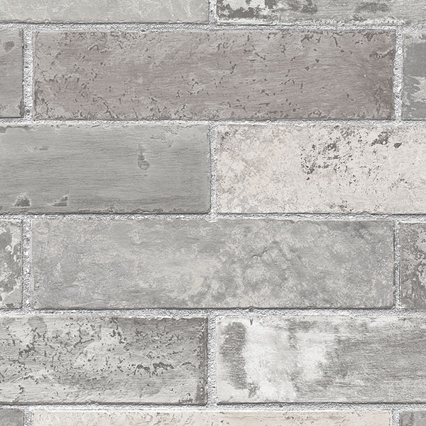 dark grey brick wallcovering