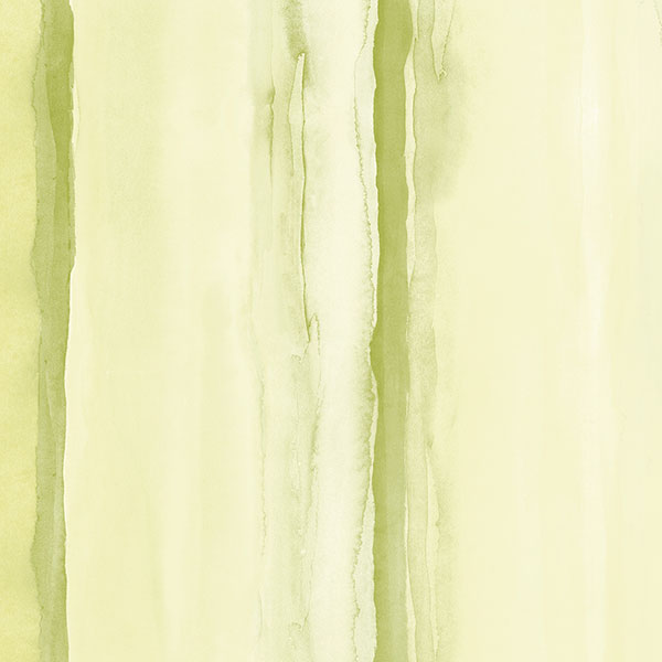 green and yellow stripe wallcovering