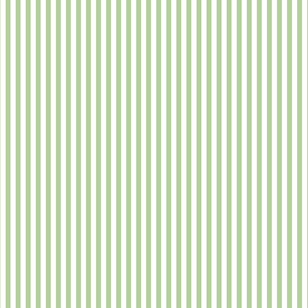 green and white 3mm stripe wallcovering