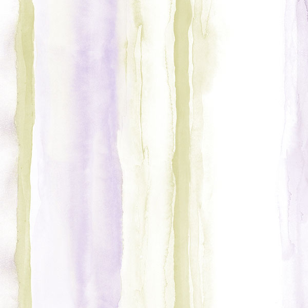 purple and green stripe on white wallcovering