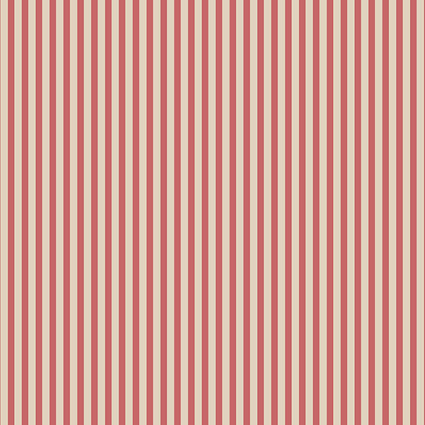 red and cream 3mm stripe wallcovering