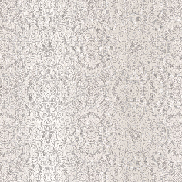 Grey and pearl tribal texture wallcovering