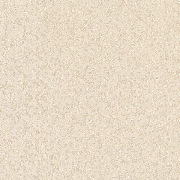 light reflective embossed allover scroll in beige wallcovering