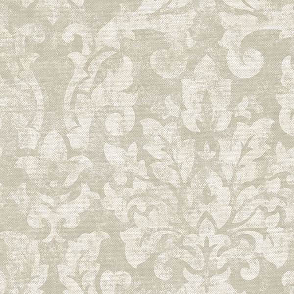 taupe damask wallcovering