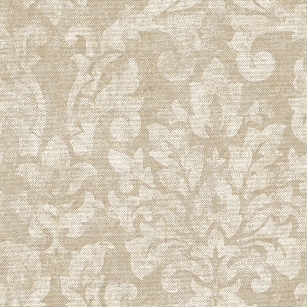 beige damask wallcovering