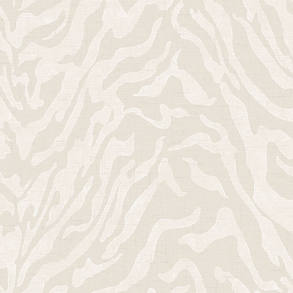 taupe zebra pattern wallcovering