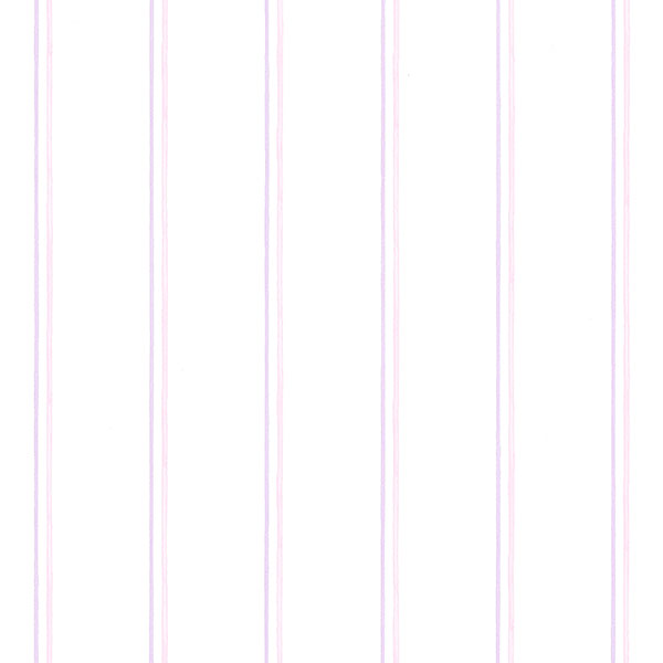 pink and purple pin stripe on white wallpaper wallcovering