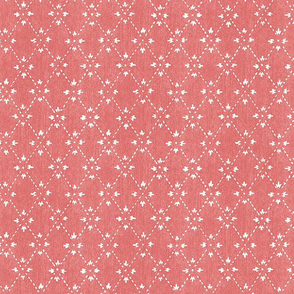 red and white pattern wallcovering