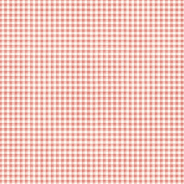 red gingham wallcovering