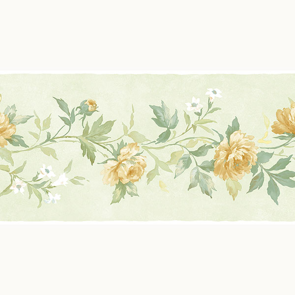 green and yellow floral border