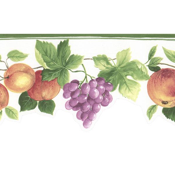 fruit vine on white wallpaper border