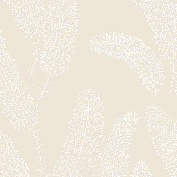 beige feather like wallcovering