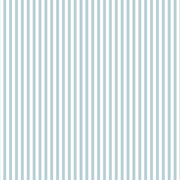 blue and white 3mm stripe wallcovering