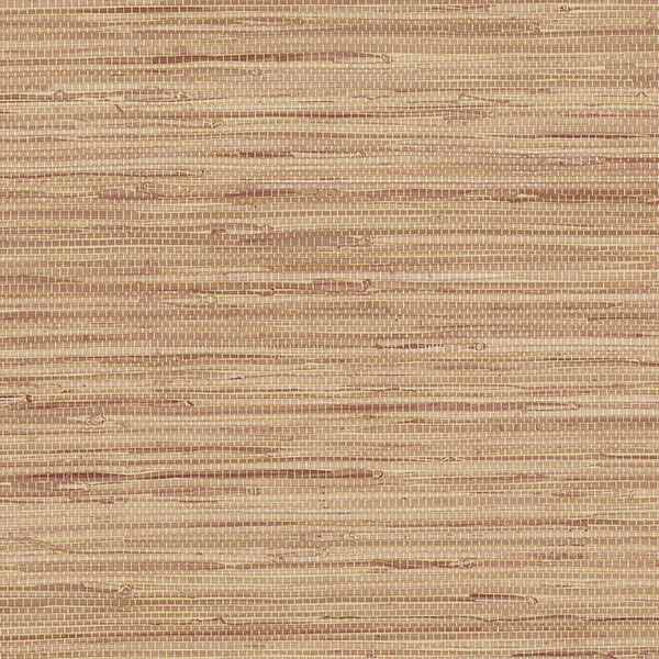 Red and tan grasscloth texture wallcovering