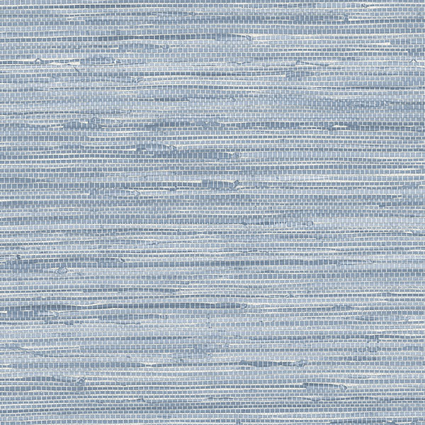 Blue grasscloth texture wallcovering