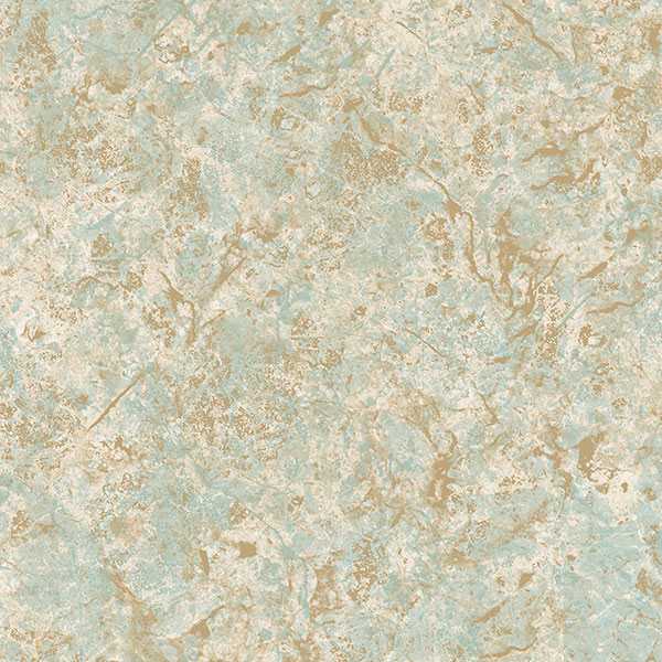 Turquoise cream and metallic gold Kashmire texture wallcovering