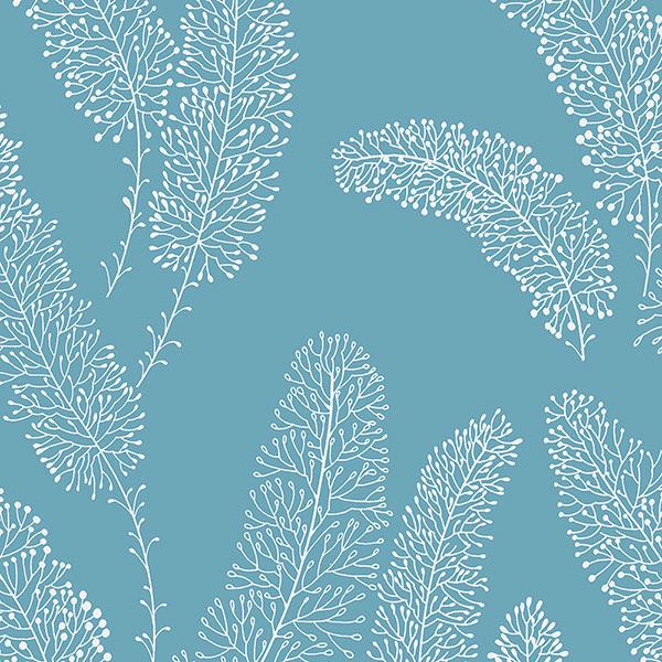 aqua feather like wallcovering