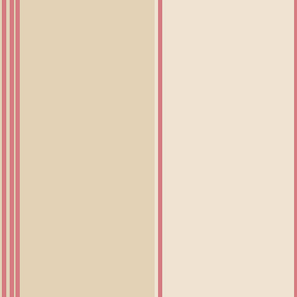 tan and red multi stripe wallcovering