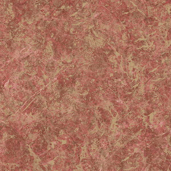 Red and metallic gold Kashmire texture wallcovering